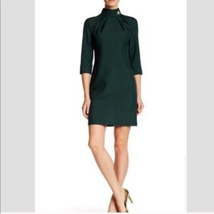 Dioni Sheath Forest Green Military Style Dress